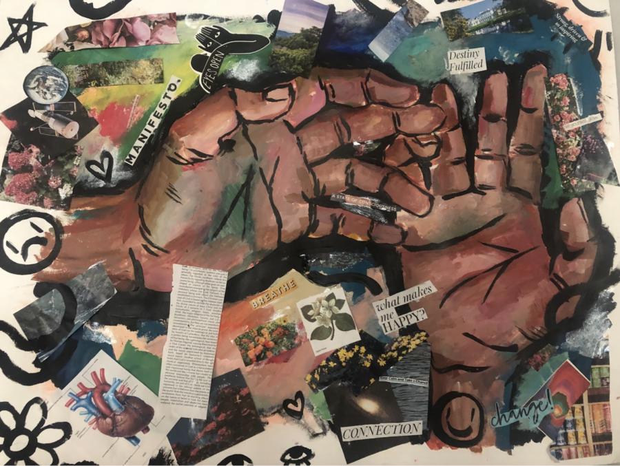Sophomore Kennedy Ferguson uses quarantine as a time to pursue art at home.