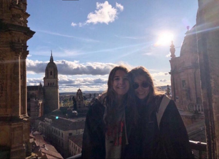Lucy Goldberg (left) and Sophie Tolson (right) in Spain.