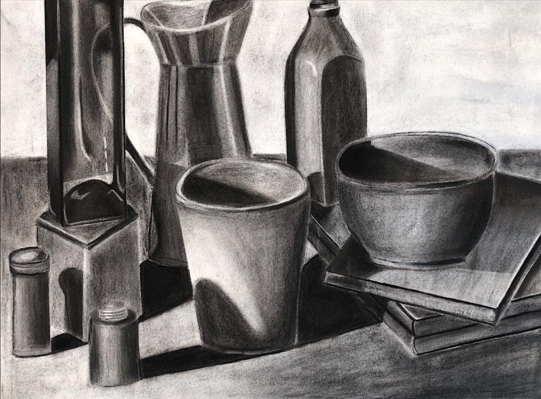Seniors+showcase+their+art+in+a+Current+gallery