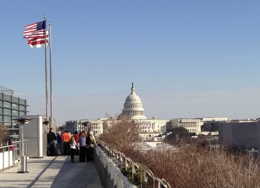 The Capitol on Inauguration Day.