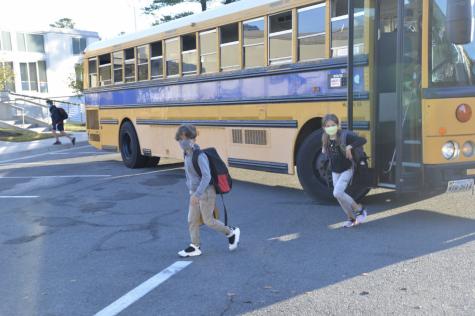 Lower School students in early fall.