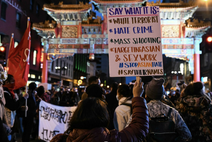 Many attended protests in Chinatown, Washington, D.C. following the series of shootings in Atlanta.