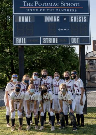 Varsity softball after a hard game. (Photo: Potomac Smugmug).