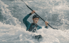 Davis negotiates a whitewater course in competition. (Photo: By courtesy of Davis).
